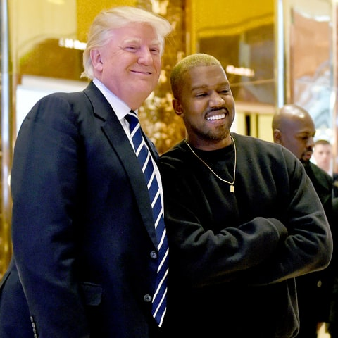 Kanye West voices support for President Trump
