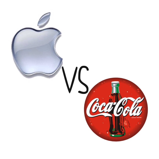 Apple surpasses Coke as the country's most valuable company.